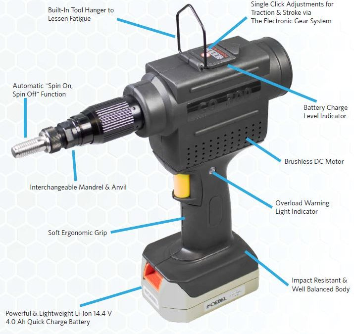 New GO-300 Cordless Lithium-Ion Battery Tool for Threaded Inserts
