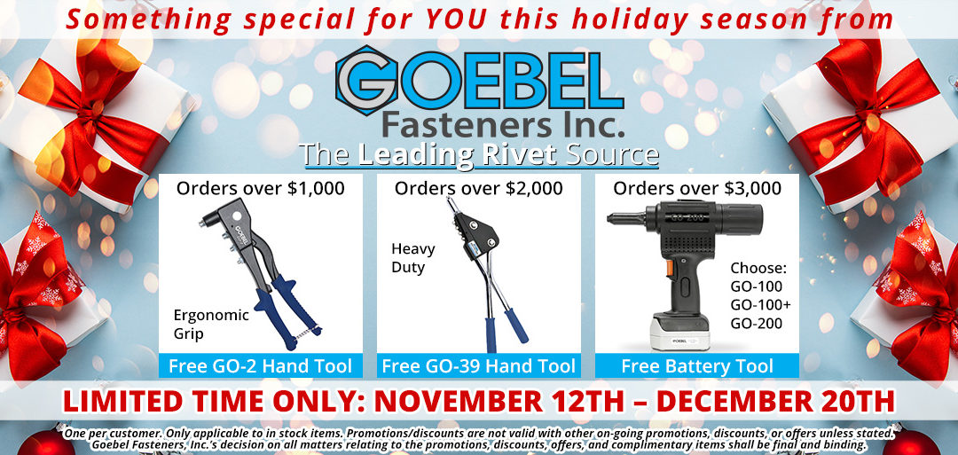 Something for you this Holiday season from Goebel Fasteners