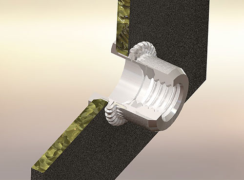 Threaded Rivet Nuts Designed for Thin Materials & Blind Applications