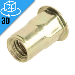 Goebel LH Series Go-Nut Threaded Hex Insert 3D Model