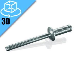 Goebel MGRT Series Dome Head Multi-Grip Blind Rivet 3D Model