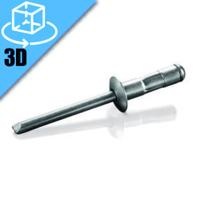 Goebel MGCT Series Dome Head Multi-Grip Blind Rivet 3D Model