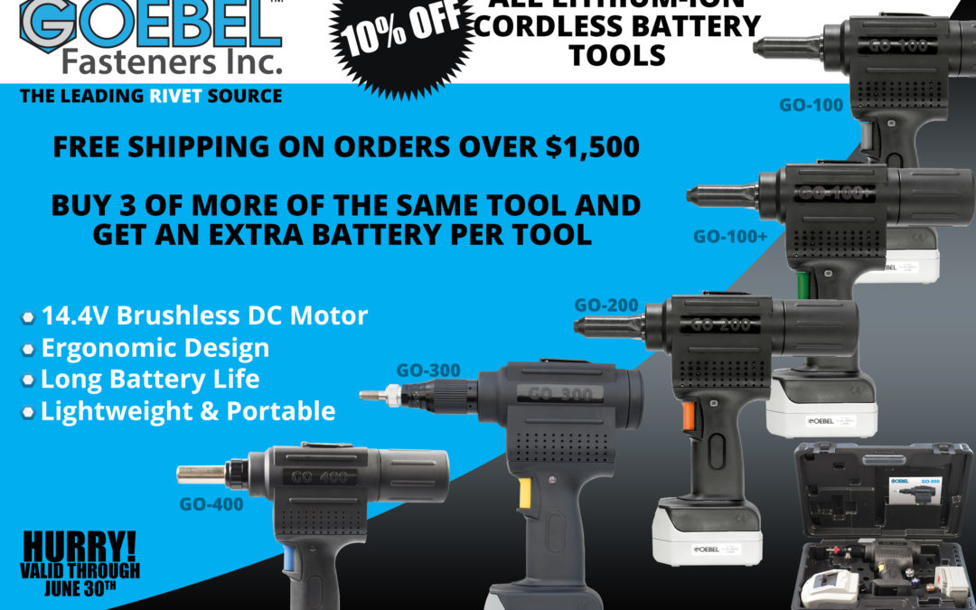All Lithium-Ion Cordless Battery Tools – 10% Off Through June 30th